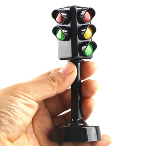 Simulated Two-Sided Traffic Lights Road Sign Lamp Crosswalk Signals with Base Early Learning Toys for Boys & Girls