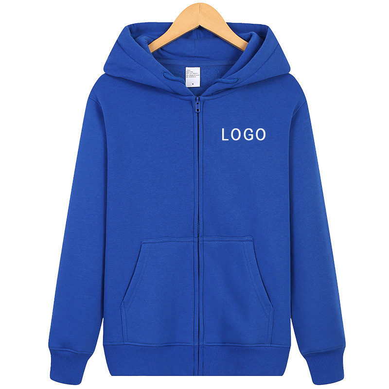 Custom Mens Hoodie Pure Color Zipper Hoodie Zip Hoody Hooded Sports Coat Tops Sweatshirt-Personalise-Funny Gift