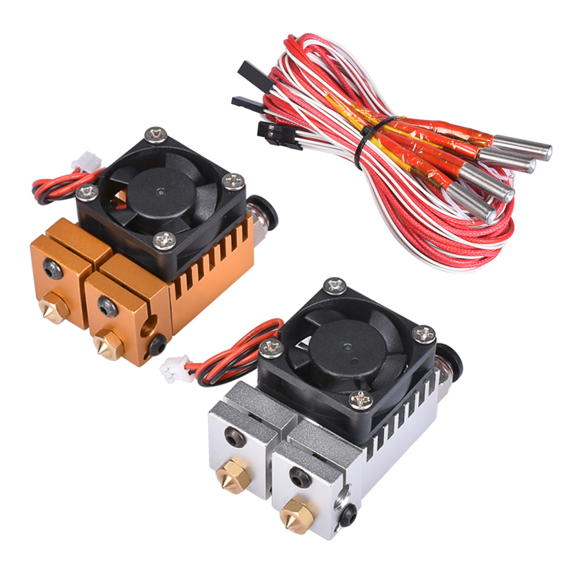 2 In 2 Out Extruder Dual Color All Metal For 3D Chimera Hotend Kit Multi-extrusion V6 Dual Extruder 0 4mm 1 75mm 3D Printer Part