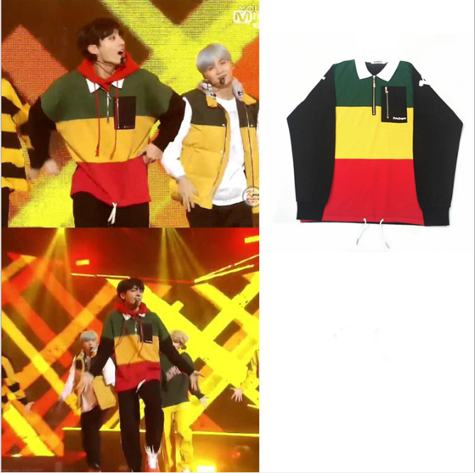 Star With The Same Sweatshirt Kpop Color Zipper Clothes For Men And Women Loose Jacket Casual Cool Fashion Sweatshirt