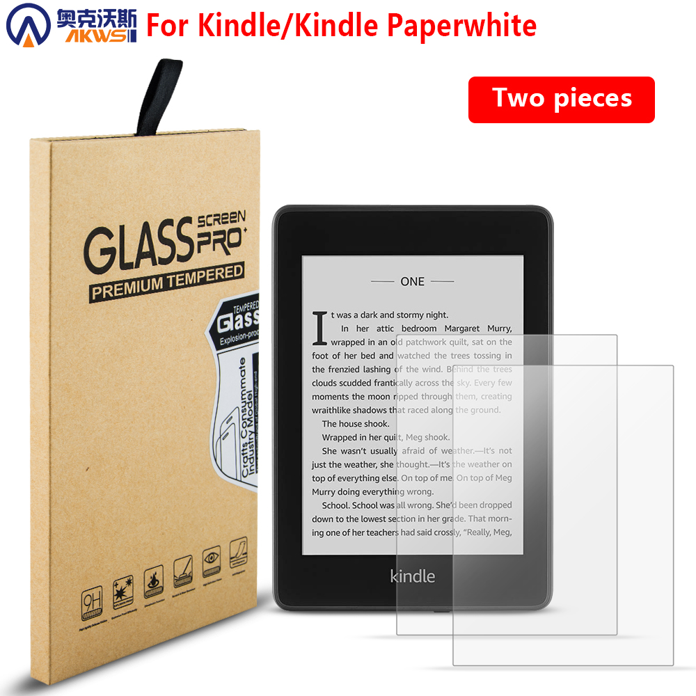 2PCS Tempered Glass Screen Protector CASE Film For Kindle Paperwhite 2016 2018 For Kindle 10th 2019 For Kindle 4 Kindle 5 6