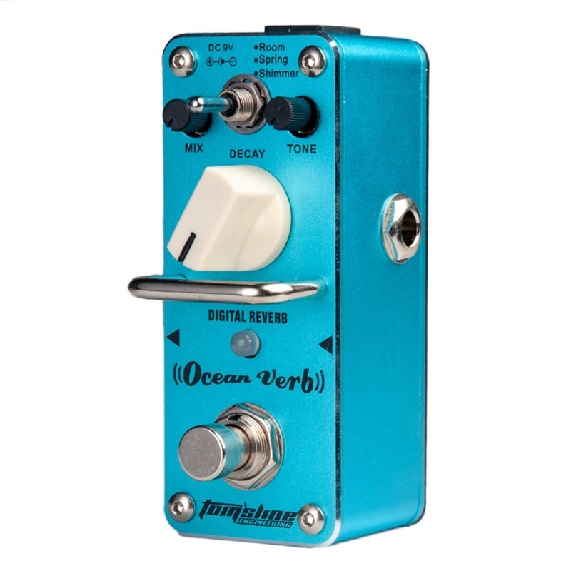 Aroma Aov-3 Guitar Pedal Ocean Verb Digital Reverb Electric Guitar Effect Pedal Mini Single Effect with True Bypass Guitar Parts