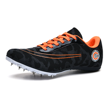 Men Women Sprint Track Field Shoes Spikes Professional Competition Nail Sports Sneakers Students Test Runnin Jump Training Shoes