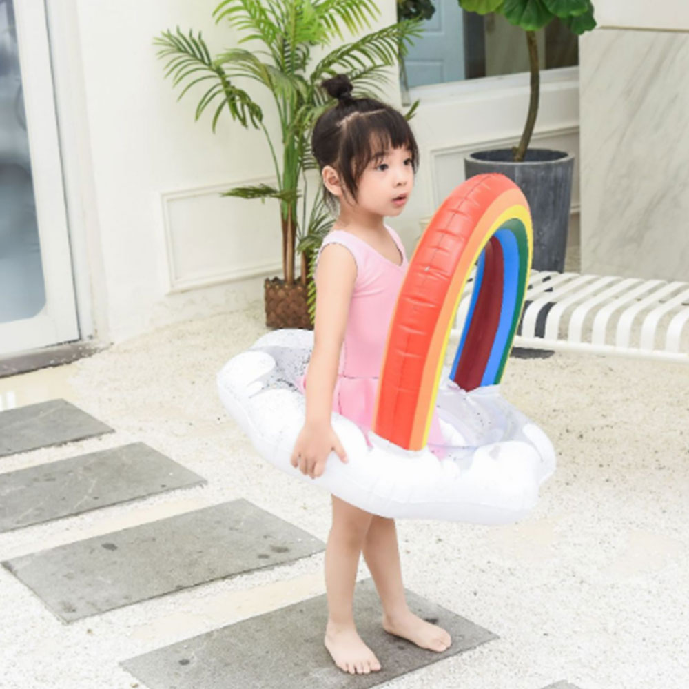 Swimming Ring Adult Child Inflatable Swimming Ring Rainbow Sweet Circle Rings For Pool Float Water Party