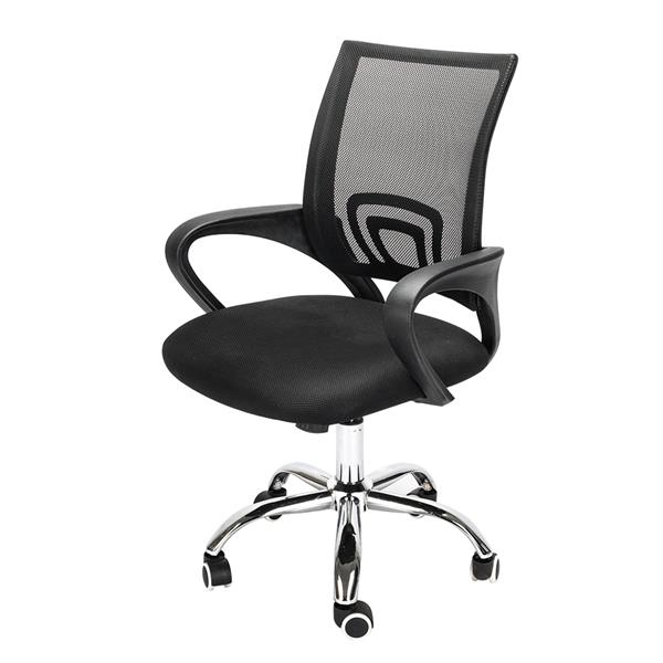 Mesh Back Gas Lift Adjustable Office Swivel Chair Black Gamer Chair Office Chair Gaming Desk