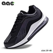Eğilim hava yastığı erkek spor ayakkabı erkekler için rahat ayakkabılar örgü nefes spor koşu ayakkabıları dantel up ayakkabı Tenis Masculino Adulto