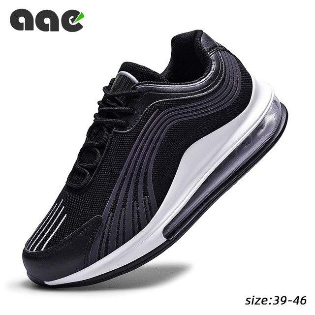 Tend Air Cushion Zapatillas deportivas para hombre, zapatos de malla informales, transpirables, para correr, con cordones, Tenis masculinos