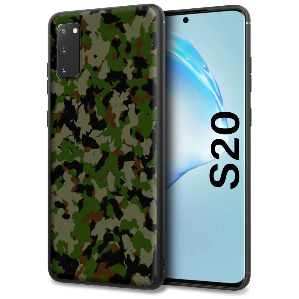 Camouflage Military Army Silicone Case For Samsung Galaxy Note 10 9 8 S20 S10 S10E S9 S8 Plus Ultra Lite S7 Edge