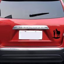 Paard & Vrouwen Sport Auto-Styling Decor Auto Sticker Refective Off-Road Auto-accessoires(China)
