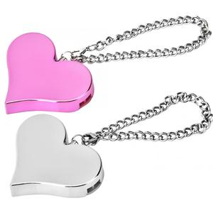 Портативный 130 дБ в форме сердца Личная охранная сигнализация брелок аварийная сирена самообороны