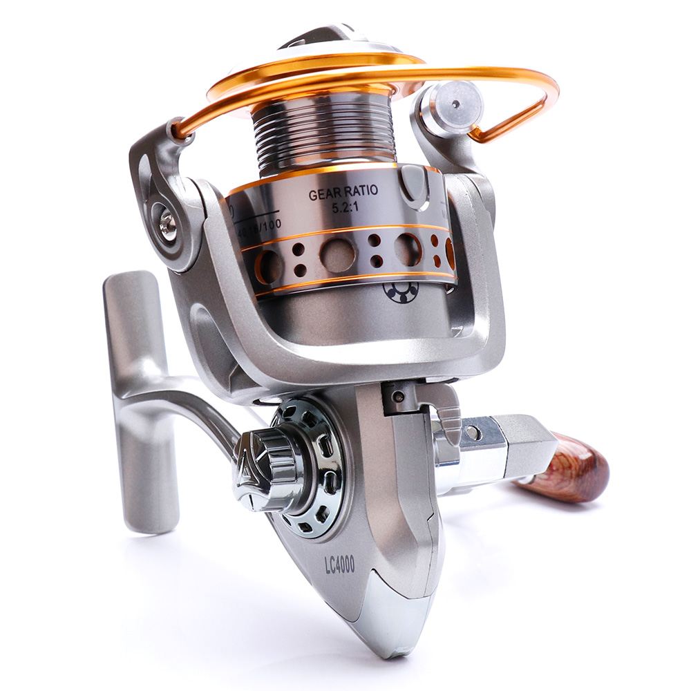 TREHOOK Super Strong 5.21 Baitcasting Reel Metal Spinning Reel Winter Fishing Accessories Sea Fishing Reels With Wooden Knob 21