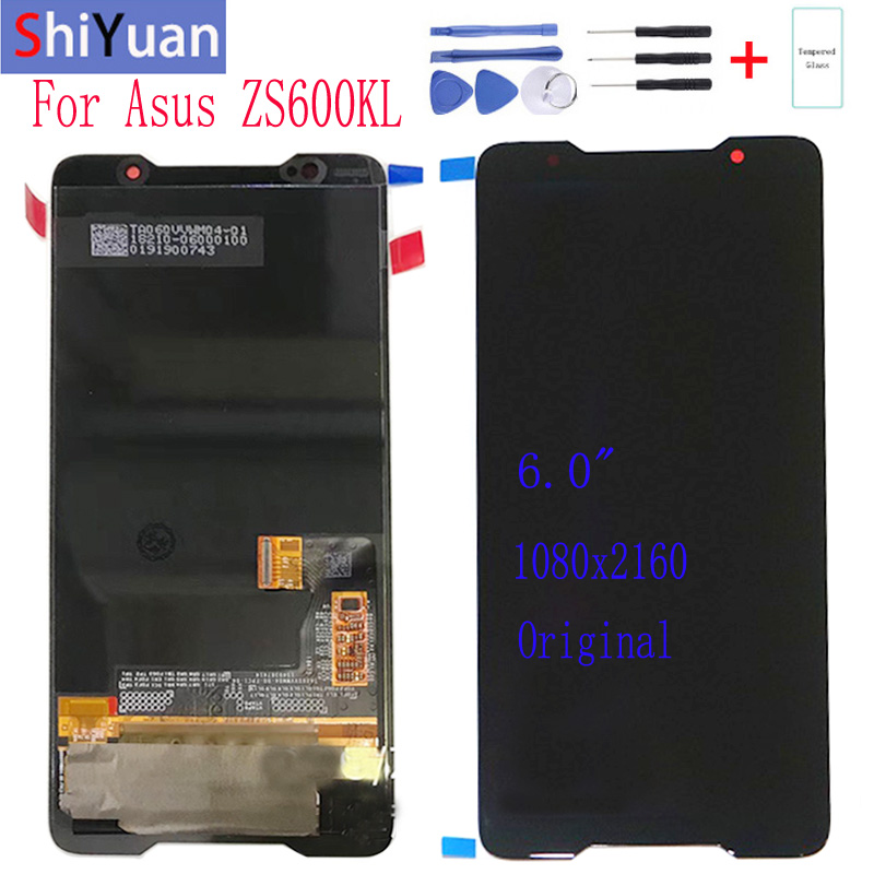 Original 6.0''AMOLED LCD Screen For ASUS ROG Phone ZS600KL Z01QD LCD Display Digitizer Touch Screen Replacement Spare Parts