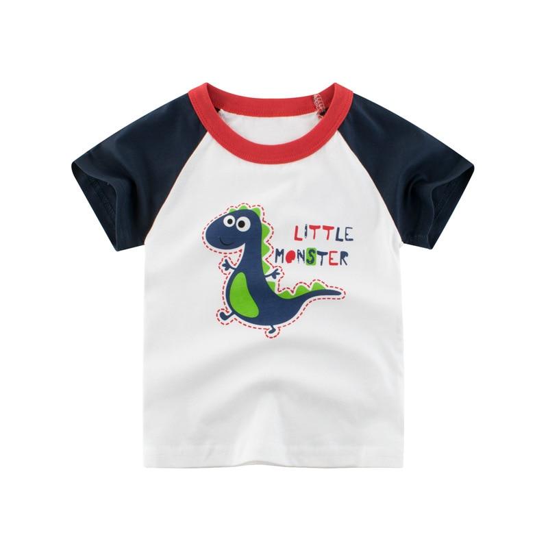 VIDMID Boys t-shirts Cars Short Sleeve T-shirt Kid baby Boys Casual Sport tees Children Summer Dinosaur tops Clothing 4037 05 2