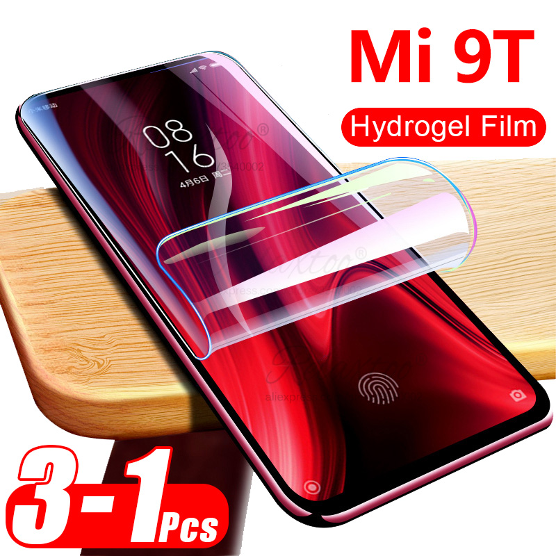 3pcs Protective Soft Hydrogel Tempered Film For Xiaomi Xiomi Mi 9t 9 T Screen Protector On For Xiaomi Mi 9t Mi9t Touch HD Glass