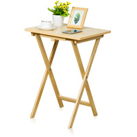 M8 Household Folding Table Simple Simple Tea Table Portable Dining Table Laptop Computer Small Table Outdoor Solid Wood|Laptop Desks|   -