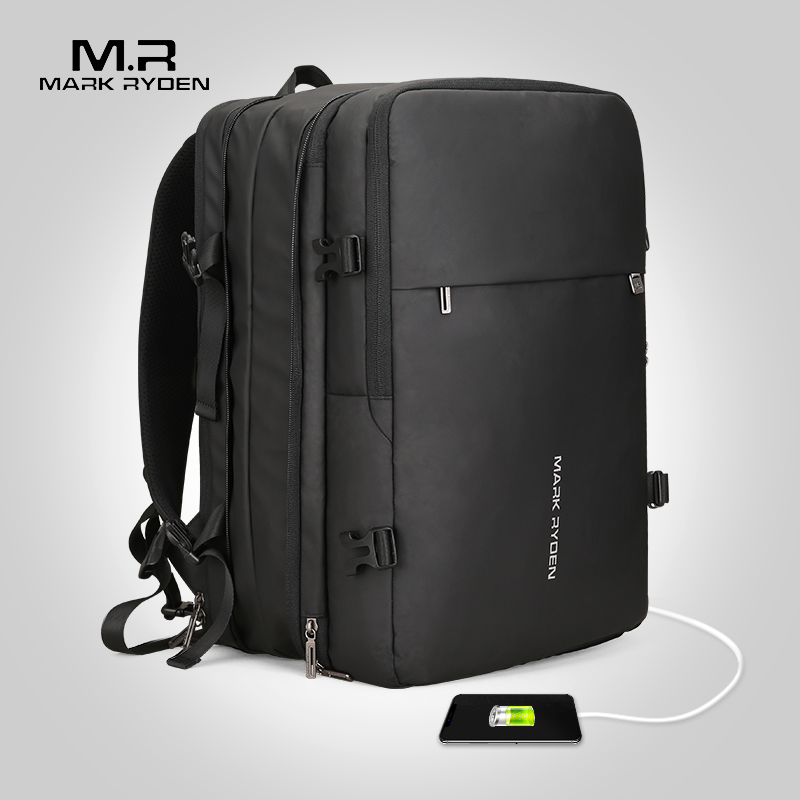 Mark Ryden Man Backpack Fit 17 inch Laptop USB Recharging Multi-layer Space Travel Male Bag Anti-thief Mochila 1