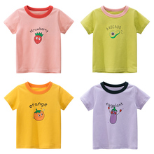 Girls Kids T Shirts Spring Summer Boys Short Sleeve  Print Tee Shirts Baby Children Cotton Tops Tees Clothes Cartoon Clothing ciciibear children boys shirts spring 2020 cotton kids baby shirts children clothing shirt long sleeve