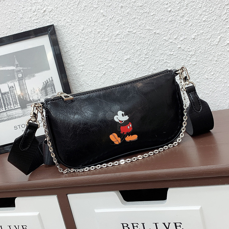 Small Women Bag 2020 New Mickey Handbags Women Shoulder Crossbody Bag Pu Leather Chain Bag Waterproof Purses And Handbags Phone