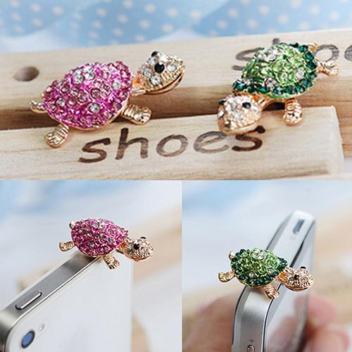 Lovely Turtle Anti Dust Plug Earphone 3.5mm Ear Jack for iPhone Samsung Galaxy Phone Accessories accesorios para celular