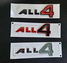 1X 4 emblema de Metal para coche etiqueta ALL4 insignias adhesivas para MINI R60 R61 F60 Cooper S compatriota Paceman estilo de coche