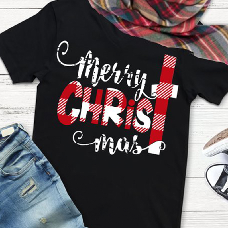 Home For Holidays Tshirt  Merry Christmas Gothic Women T-shirts Graphic T Tops Car Hot Tee Vintage Shirt Harajuku
