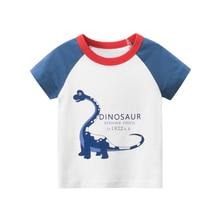 Summer Brand New Boys Girls T Shirts Childrens Clothing Bing dinosaur 1-8 Y Short Sleeve T-Shirts Cartoon Kids O Neck Tee Tops