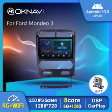OKNAVI Android 10.0 autoradio lettore Video multimediale per Ford Mondeo 3 2000-2007 GPS Serero Carplay 6G 128G No 2 din Radio 9
