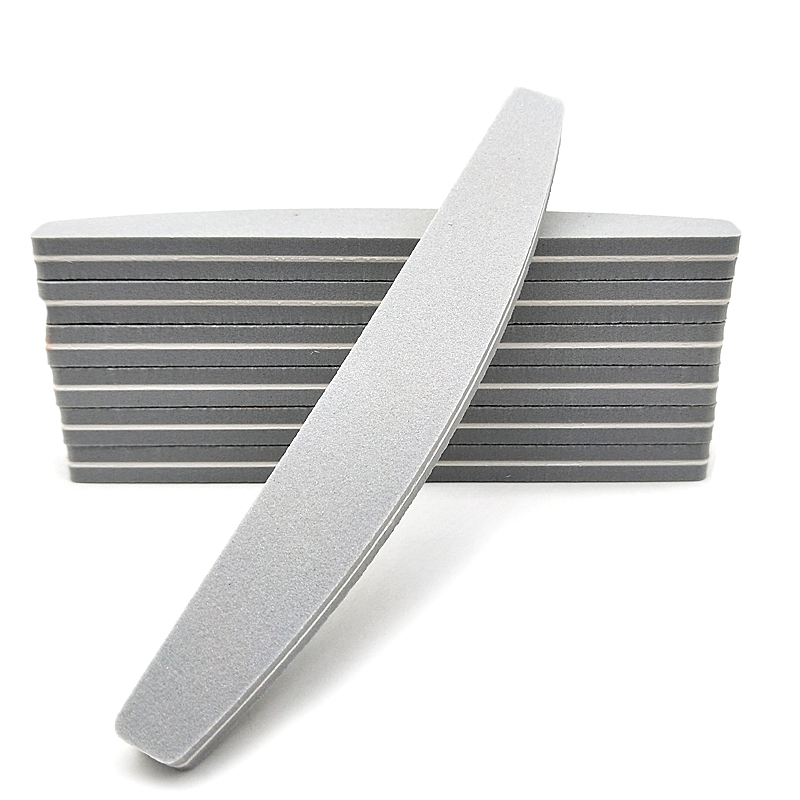 5x Sponge Sandpaper Nail File Buffer Block Moon Design Washable 100/180 Emery Board Sanding Limas Nail Files Polisher Tools Gray