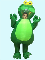 Halloween Inflatable Frog Mascot Costumes Suits Funny Outfit Cosplay Animal Costume Dress Inflatable For Adults Outfits