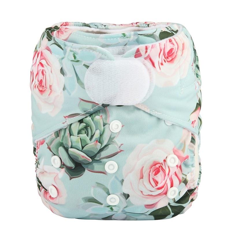 [Sigzagor] 1 тканевый подгузник с карманами для детей, подгузник с застежкой-липучкой, с широкими полосками на талии - Цвет: DV22