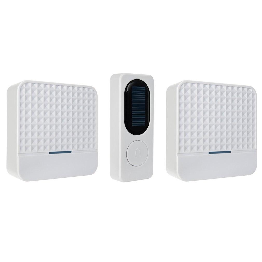 Wireless Solar Doorbell Remote Wireless Doorbell Waterproof Doorbell LED Night Light Doorbell