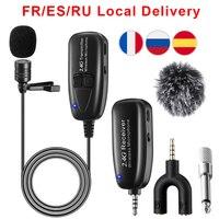 Micrófono Lavalier inalámbrico de 2,4G, micrófono de solapa con Clip para iPhone, Android, grabación de vídeo de voz, accesorios de micrófono