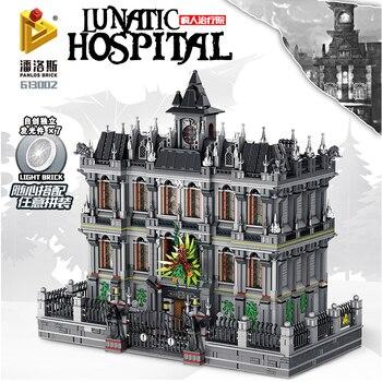 Superhéroe serie Marveled Avenged Infinity War Batman Arkham Asylum Lunatic Hospital modelo Building Blocks ladrillos niños Juguetes