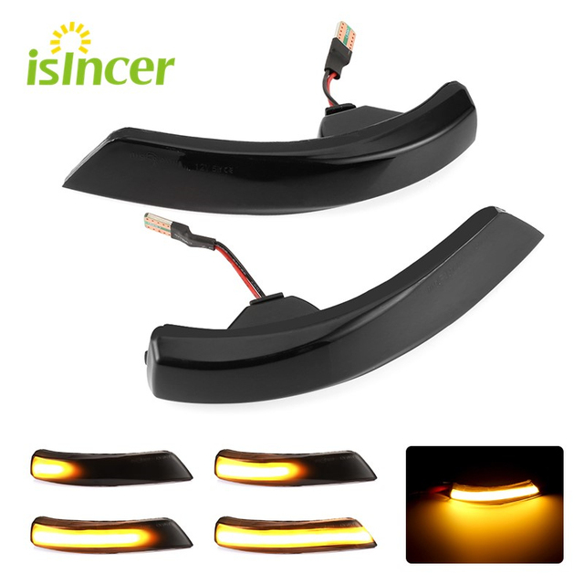2pcs Dynamic Turn Signal Light LED Side Wing Rearview Mirror Indicator Blinker Light For Ford Focus 2 3 Mk2 Mk3 Mondeo Mk4
