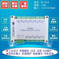 M-7010 Signal Amplifier 10 Way Load Pressure Sensor Data Acquisition Module 10 / 20mV to RS485