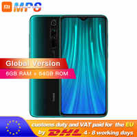 ¡En Stock! Global ROM Xiaomi Redmi Note 8 Pro 6GB 64GB Smartphone 64MP Quad Cámara Helio G90T Octa Core 4500mAh NFC