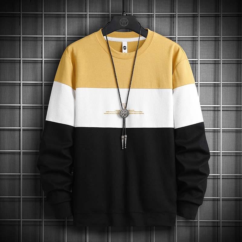 Männer Hoodies Beiläufige Lose Rundhals Männer Sweatshirts Mode Streetwear Koreanischen Stil Männlichen pullover Langarm 2021 Frühjahr Neue