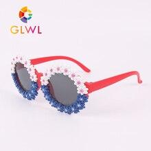 Flower Sunglasses Eyewear Sports-Shade Wholeasale Round Children Girls for Kids Bulk