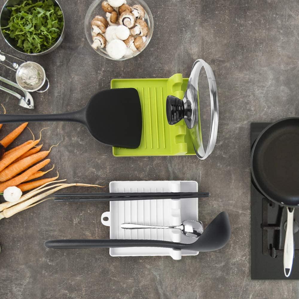 Utensili da cucina a caldo resto organizzatore da cucina e conservazione con gocciolatoio forchetta da cucina porta cucchiaio Pad antiscivolo accessori da cucina 2