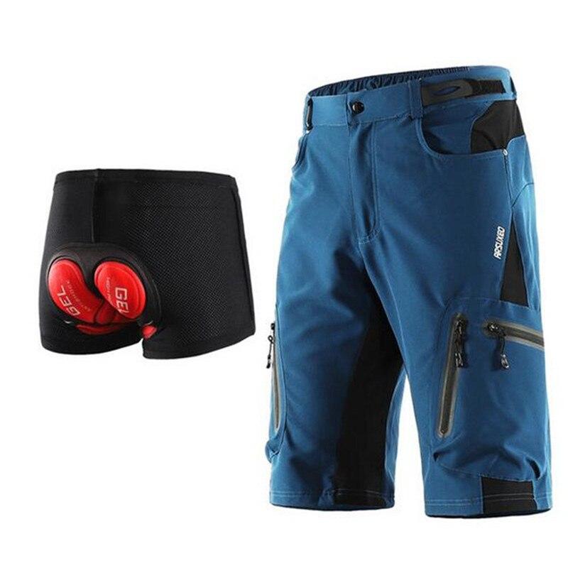 Summer Motorcycle Shorts Men's Cycling Shorts Mountain Bike Downhill Shorts Loose Outdoor Sports Riding Road Moto Short Trousers