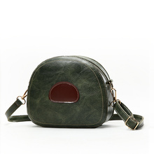 PU Material Fashion Zipper Shoulder Diagonal Cross Bag Channel Handbag Brand Name Female 2018