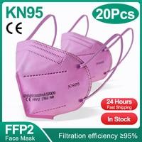 20PCS Pink FFP2