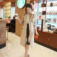 Double Breasted Md-long Trench Coat Women 2020 New Vintage Turn Down Collar Long Sleeve Belt Windbreaker Female Abrigo RQ773(China)