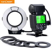 KF 150 TTL Ring Flash Light Macro Ring Light for Canon DSLR Rebel T6i T6sT5i T4i T3 T2i T1i T5 T3 XT XSi XSi EOS 70D 60D 5D 7D