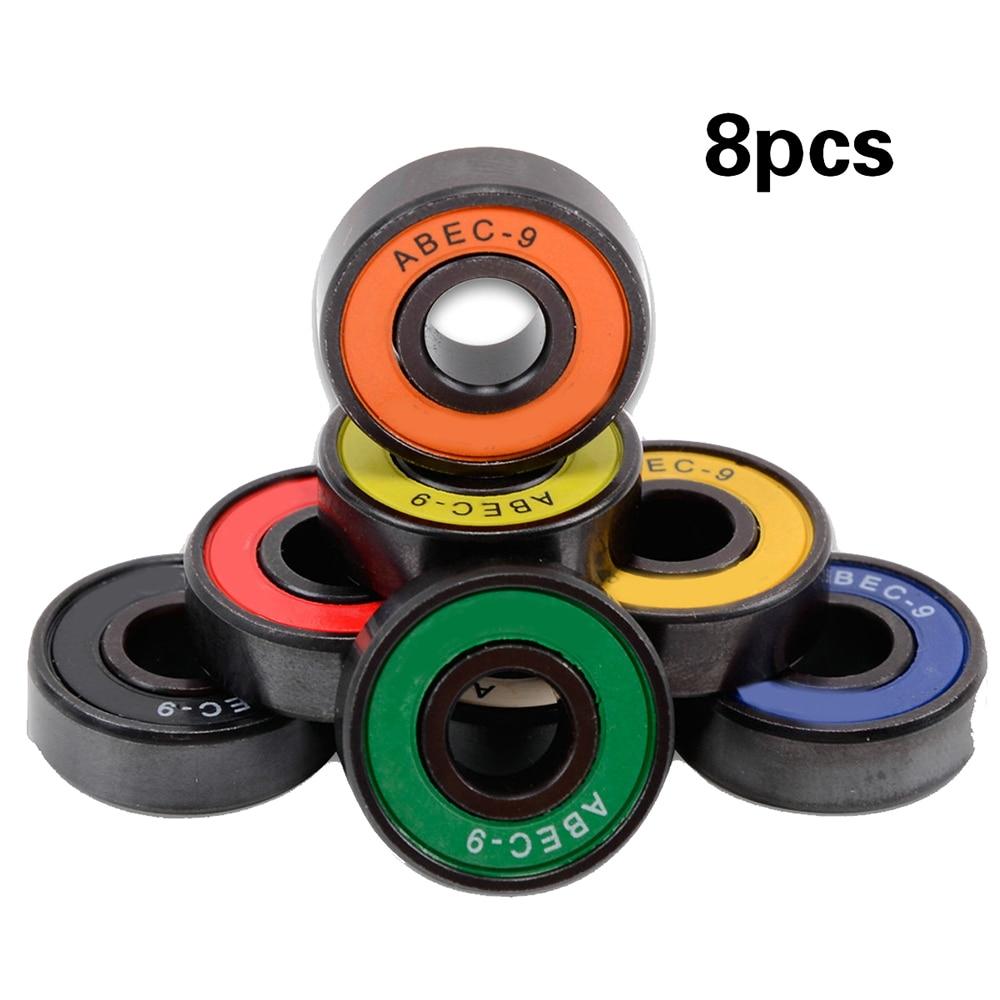 8pcs ABEC-9 Professional Double Cross Slide Bearings High Performance Roller Skate Scooter Skateboard Wheel