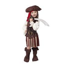 Kids Girls Pirate Cosplay Costume Children Girls Halloween Pirates Of The Caribbean Cosutmes
