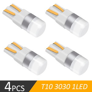 4 Pcs Super Bright 3030 SMD T10 LED W5W Car dome Light Auto Clearance Reading Lamp 12 Vehicle Door Bulb Accessories White 6000K(China)