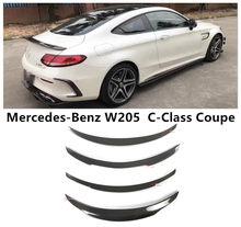 Becquet de haute qualité en Fiber de carbone pour Mercedes Benz W205 classe C coupé C200 C300 C63 2015 – 2019, accessoires de voiture