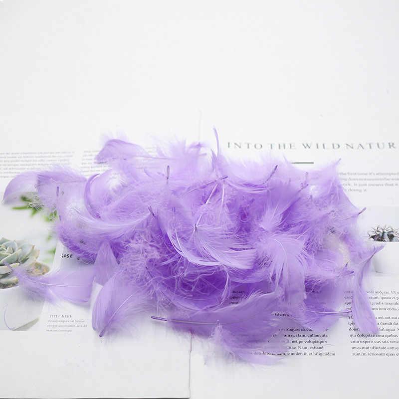 100 pçs/lote penas coloridas presente material de embalagem caixa enchimento suprimentos diy artesanato festa aniversário casamento decoração acessórios