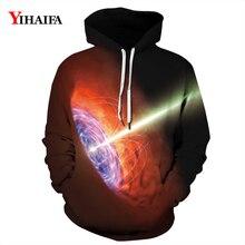 3D Hoodies Mens Womens Galaxy Nebula Beam Sweatshirt Graphic Casual Coat Pullover Tracksuit Couples Sportswear Tops